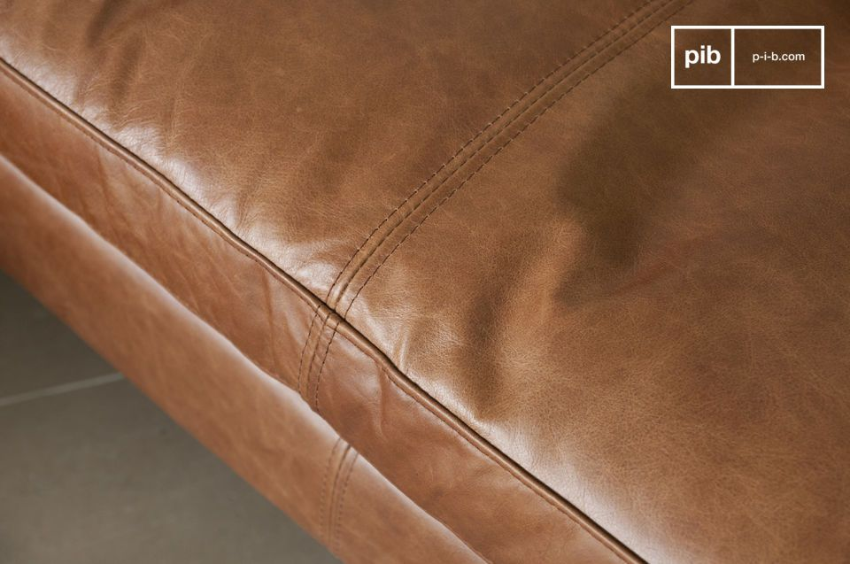 Hamar Leather Sofa - 5