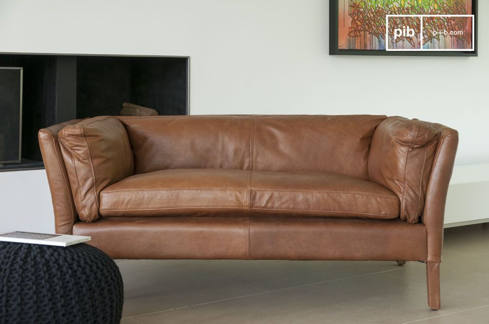 Hamar Leather Sofa - 6