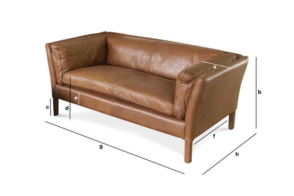 Product Dimensions Hamar Leather Sofa