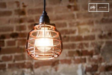 Hanging lamp Bristol cuivrée