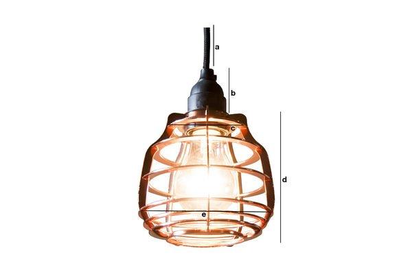 Product Dimensions Hanging lamp Bristol cuivrée