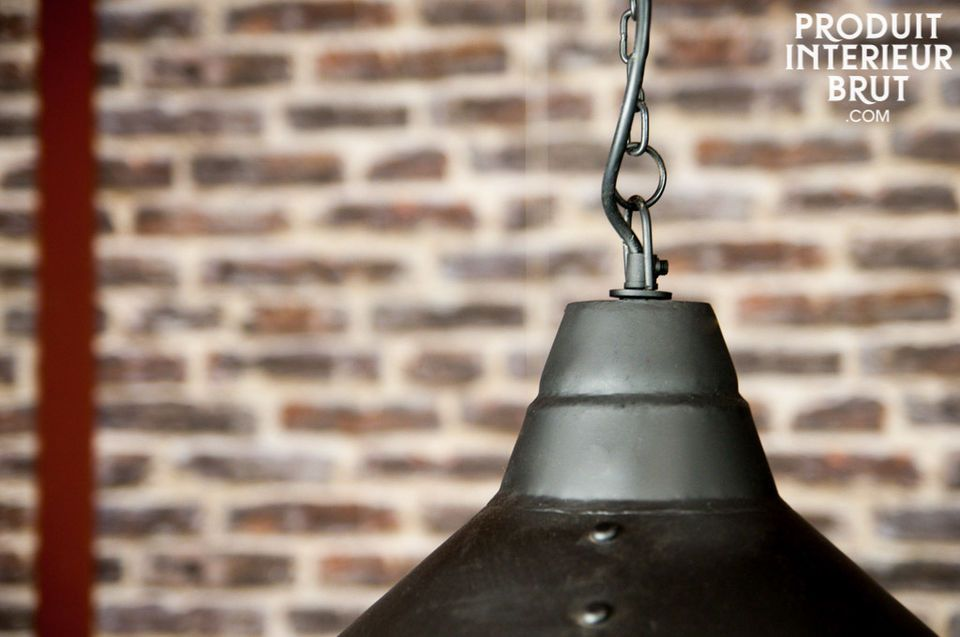 A Large light that adds a touch of magic to the industrial style