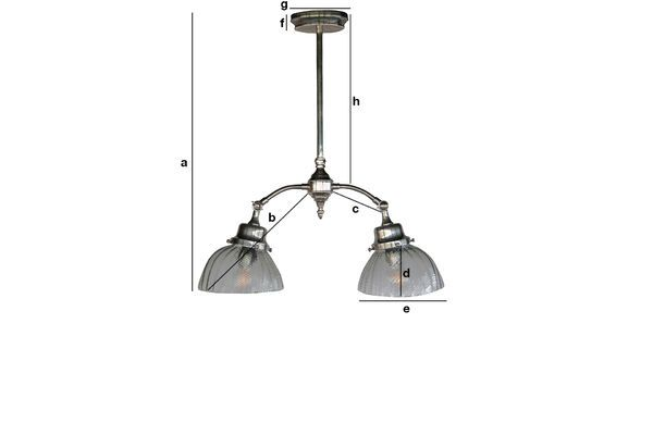 Product Dimensions Haussmann Art Nouveau ceiling lamp