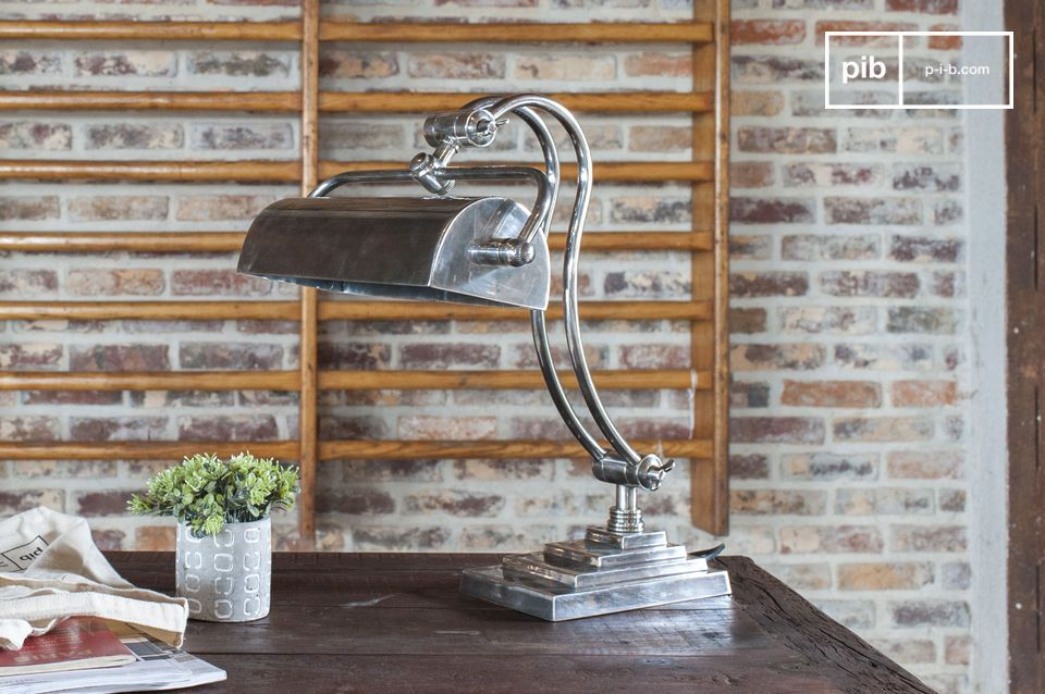 An adjustable desk lamp in chic industrial style