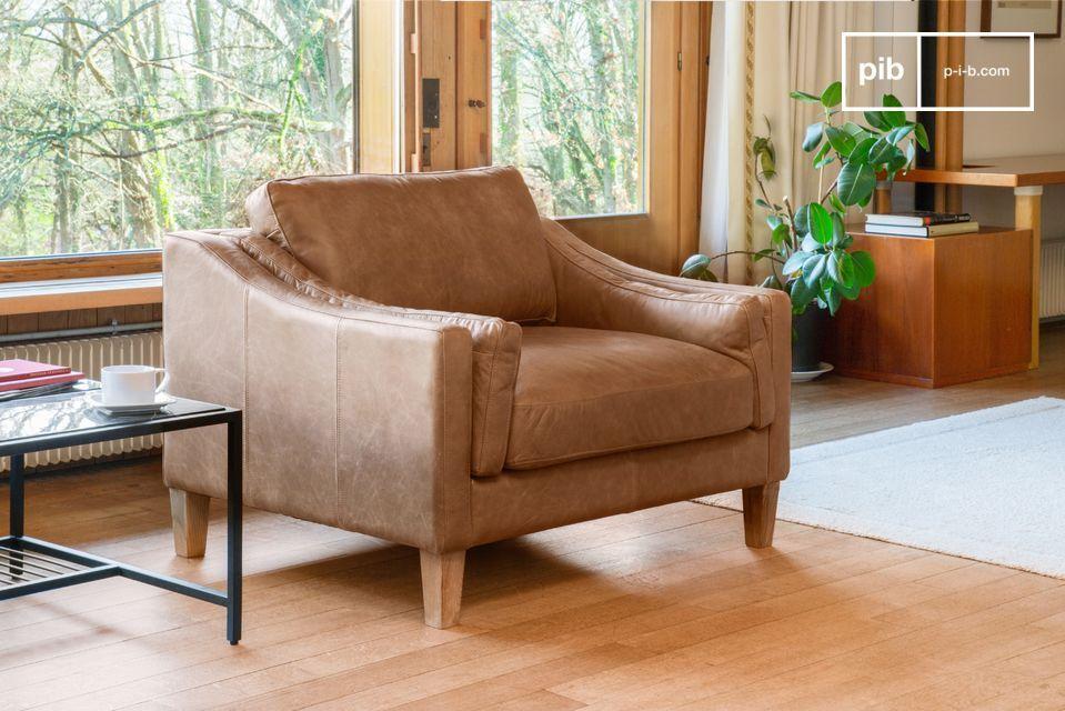 Heidsieck cinnamon armchair