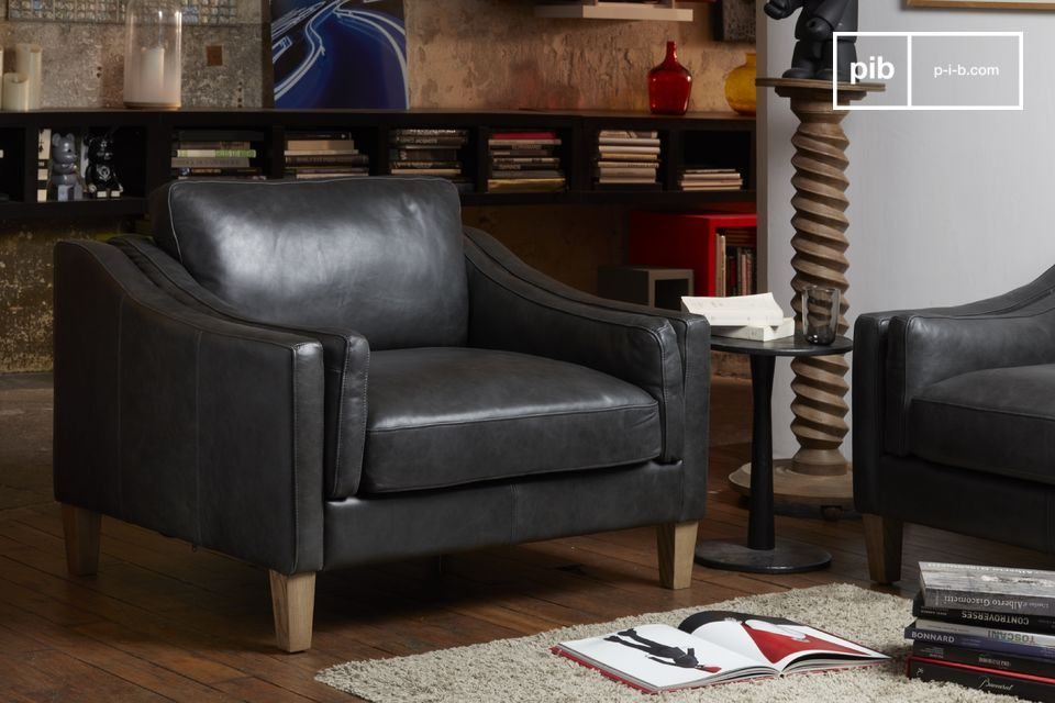 Heidsieck leather armchair