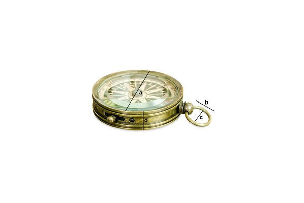 Product Dimensions Helmsman's compass
