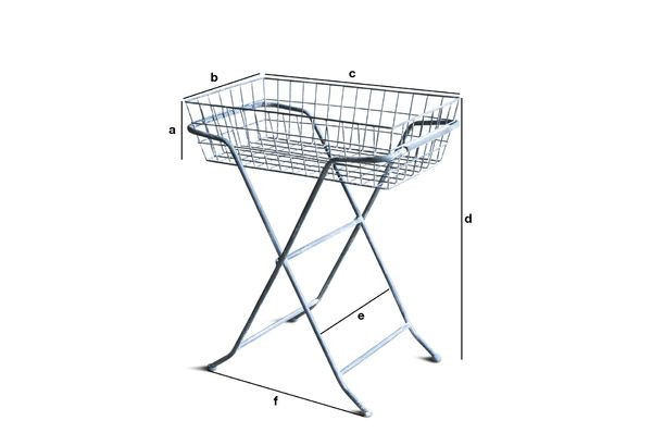 Product Dimensions Héloïse Folding Trolley