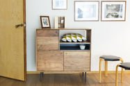 High wooden sideboard Bascole