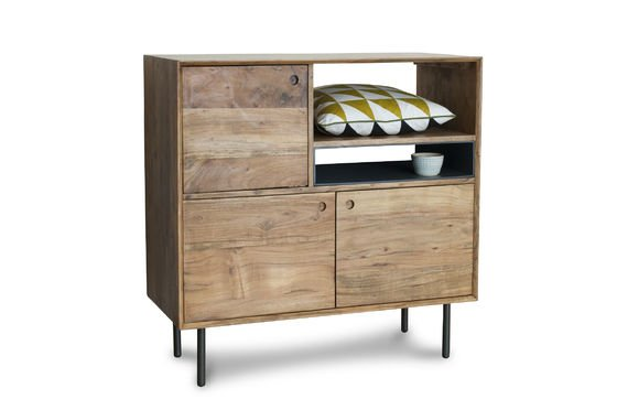 High wooden sideboard Bascole Clipped