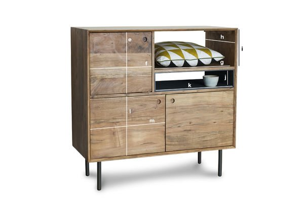 Product Dimensions High wooden sideboard Bascole