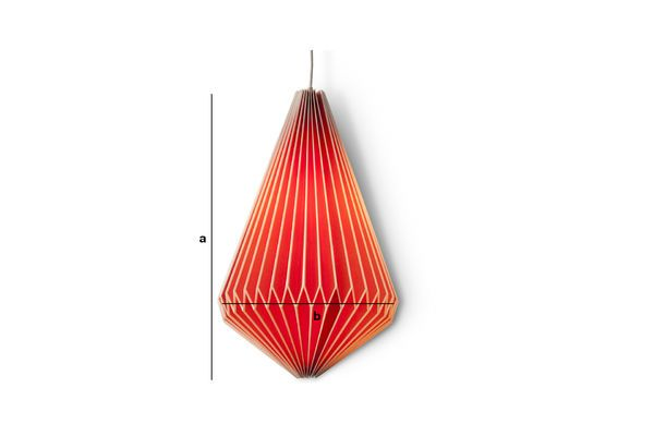 Product Dimensions Hippy hanging light extended