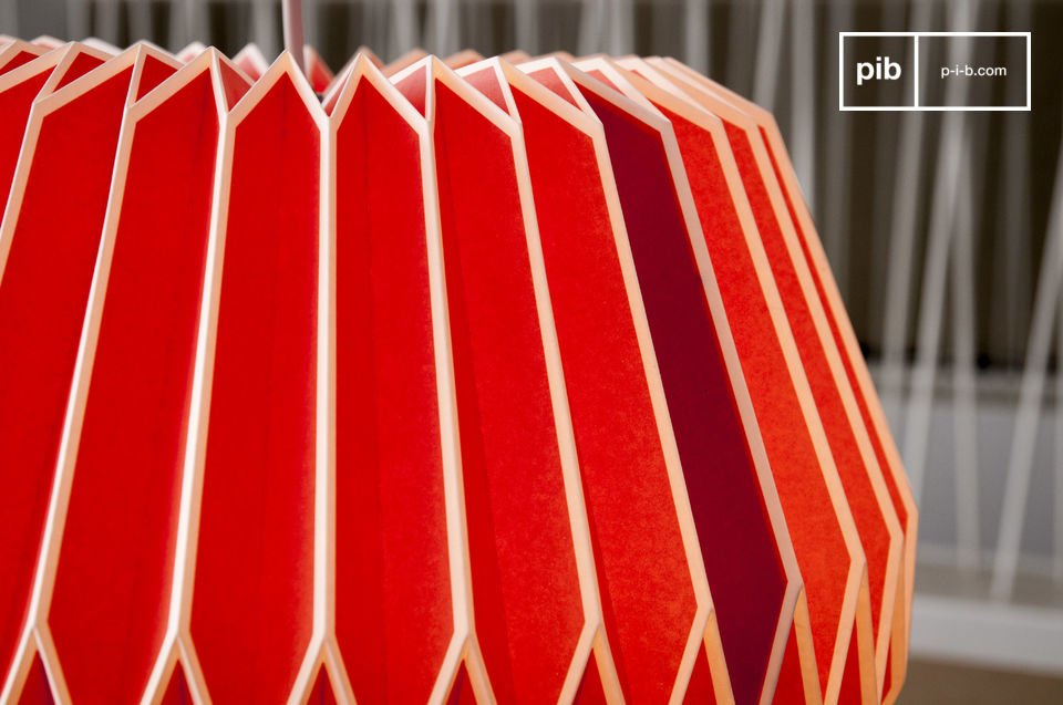 With its jagged lines and bright colours, the Hippy hanging light is reminiscent of the 60s