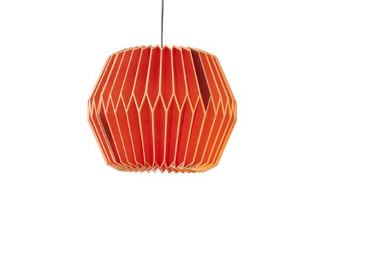 Hippy Red hanging light Clipped