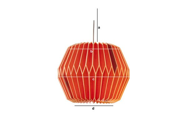 Product Dimensions Hippy Red hanging light