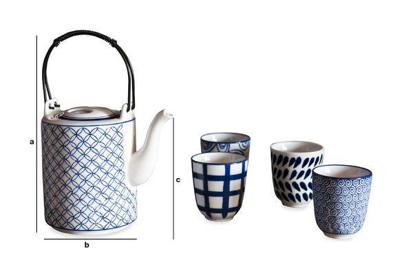 Product Dimensions Hivana tea set
