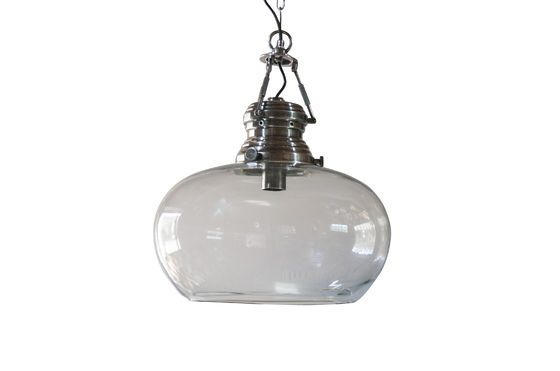 Hoonui Glass Hanging lamp Clipped
