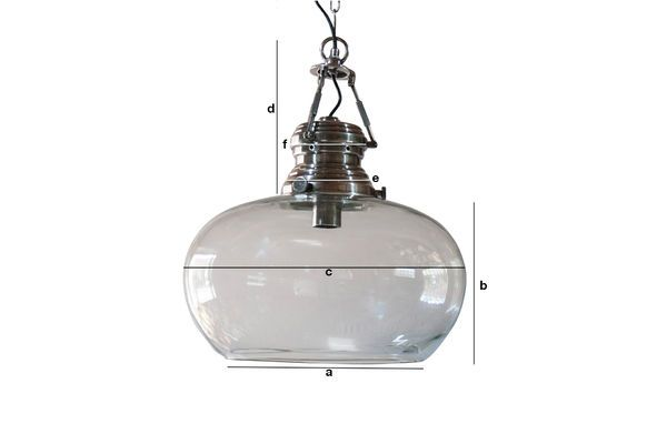 Product Dimensions Hoonui Glass Hanging lamp