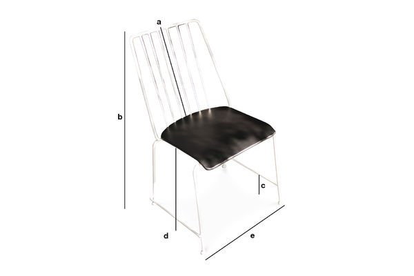 Product Dimensions Hossegor metal chair