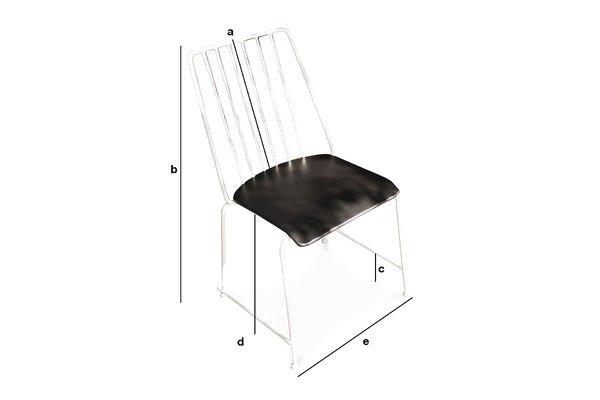 Product Dimensions Hossegor metal chair