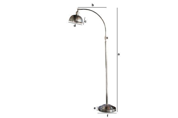Product Dimensions Hossegor Silver reading lamp