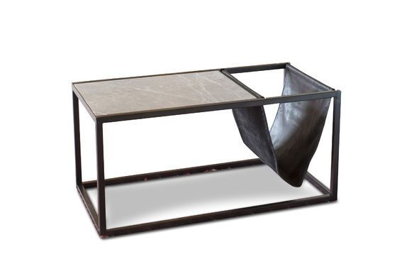 Ibiza stone coffee table with magazine holder Clipped