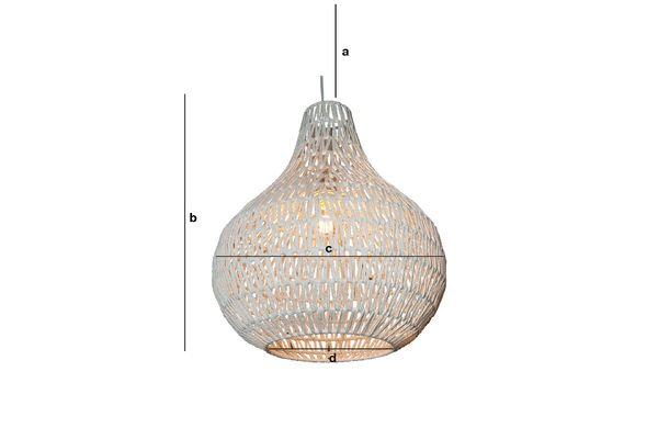 Product Dimensions Ilma Pallot pendant light
