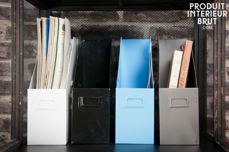 Industrial blue file box