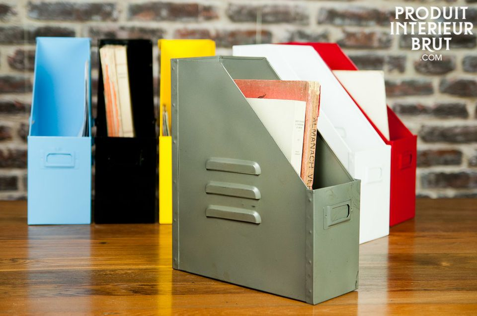 An industrial and useful touch for all your files