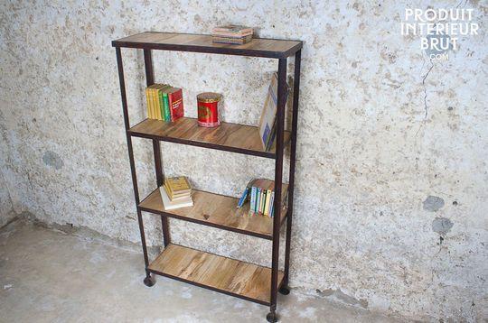 Industrial four-shelf unit