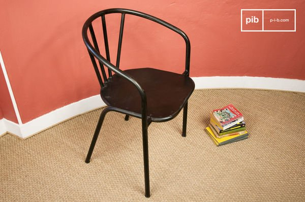 Industrial metallic chair