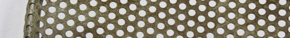 Material Details Industrial perforated sheet chair