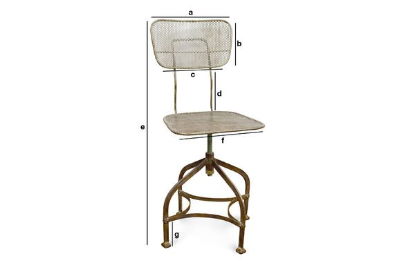 Product Dimensions Industrial perforated sheet chair
