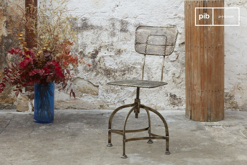 Industrial perforated sheet chair
