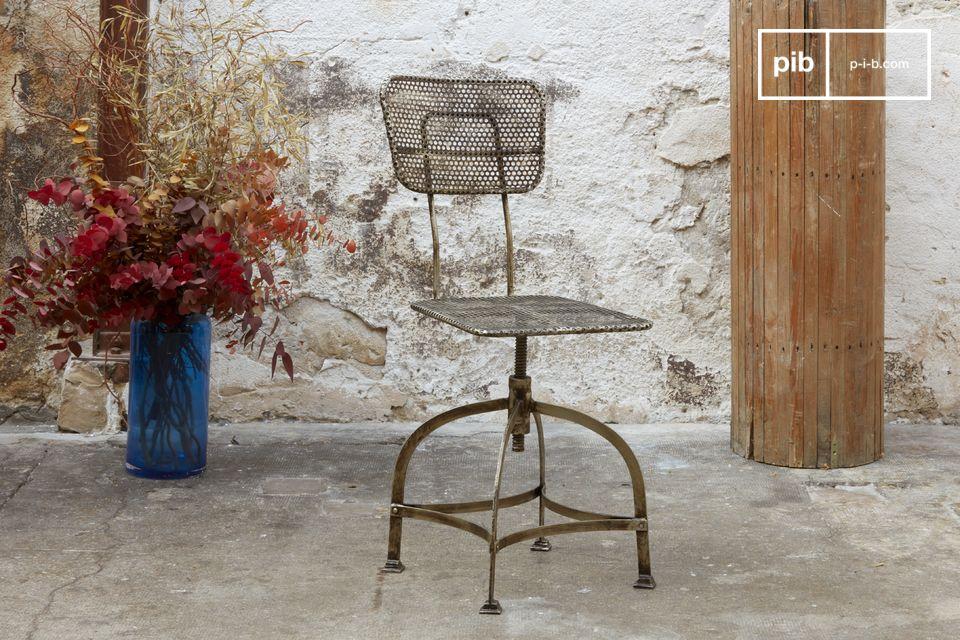 100% metal rotating chair