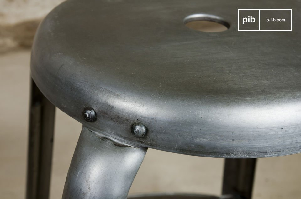 You will love the many visible rivets and the barely distressed metal finish