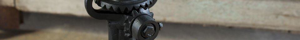 Material Details Industrial stool with crank