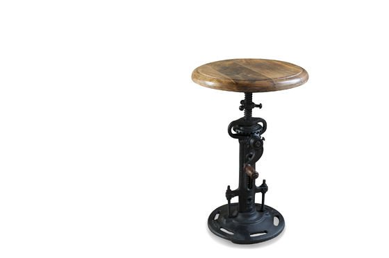 Industrial stool with crank Clipped