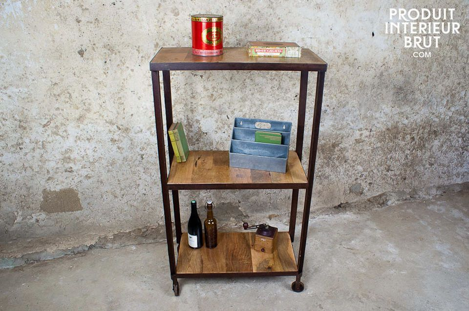 Industrial three-shelf unit