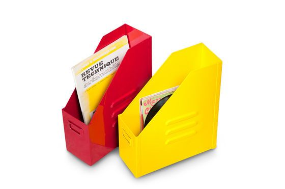 Industrial yellow file box Clipped