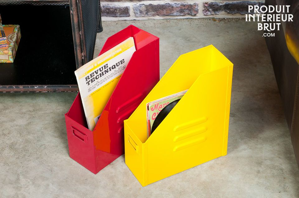 Industrial yellow file box
