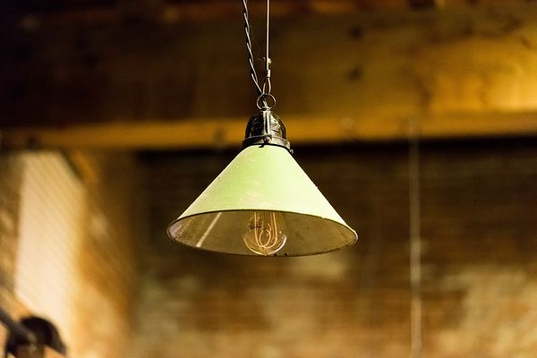 industrial light with light lampshade