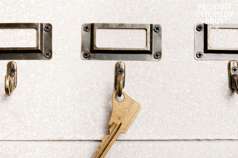 A board with hooks for all your keys