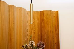 Isabelle pendant lamp with gold finish