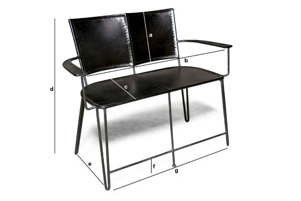 Product Dimensions Italia double armchair