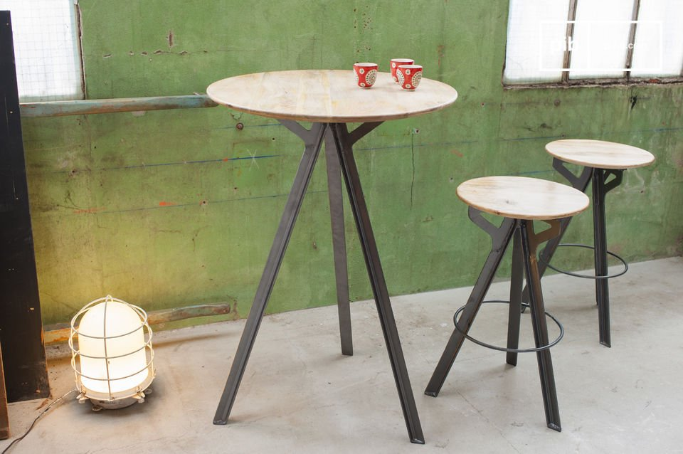 If you are searching for industrial bar stools with a  generous seat height combining elegance and