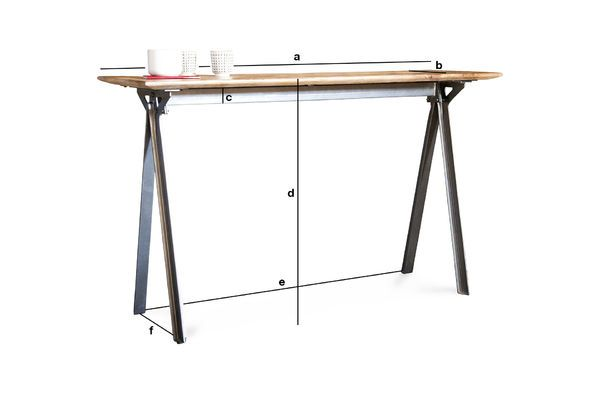 Product Dimensions Jetson Console table