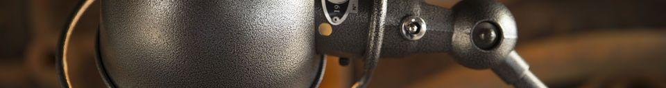 Material Details Jieldé Loft hammered lamp