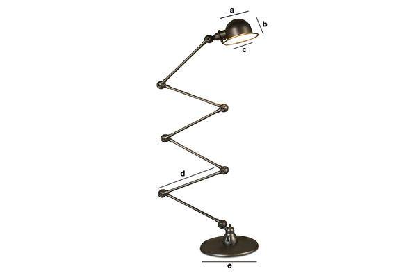Product Dimensions Jieldé Loft hammered lamp