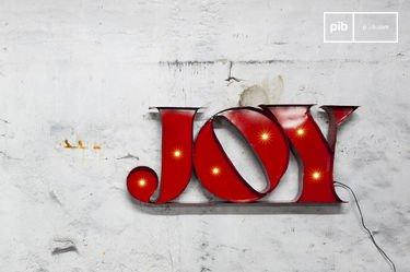 Joy neon sign